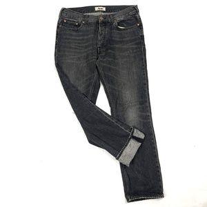 Acne Studios Men Jeans Roc Black 34x32
